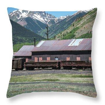 Throw Pillow featuring the photograph Entering Silverton by Colleen Coccia