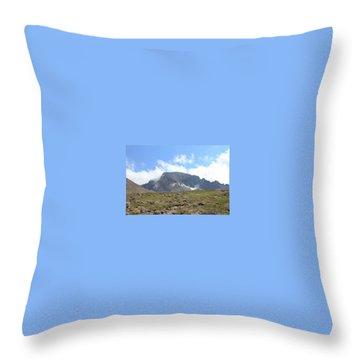 Entering The Boulder Field Throw Pillow
