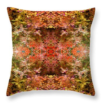 Entering The Garden Throw Pillow