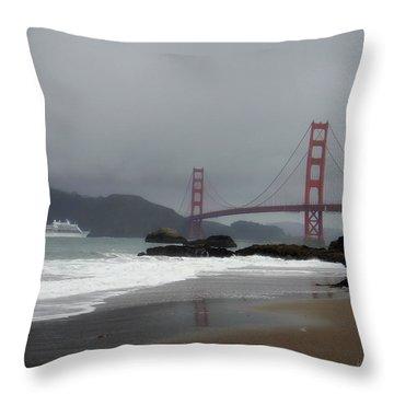 Entering The Golden Gate Throw Pillow