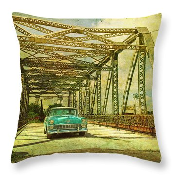 Entering The Past Throw Pillow
