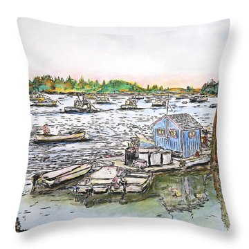 Entering Vinal Haven, Maine Throw Pillow