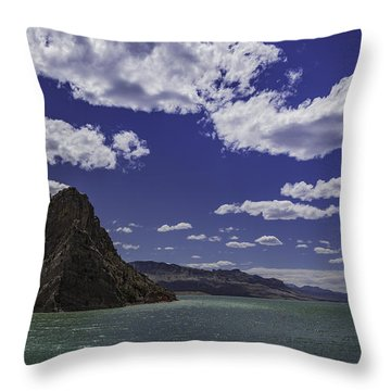 Entering Yellowstone National Park Throw Pillow