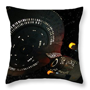 Throw Pillow featuring the photograph Enterprise by Kristin Elmquist