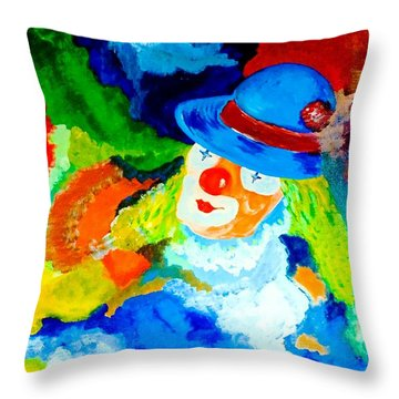Throw Pillow featuring the painting Entertainer by Piety Dsilva