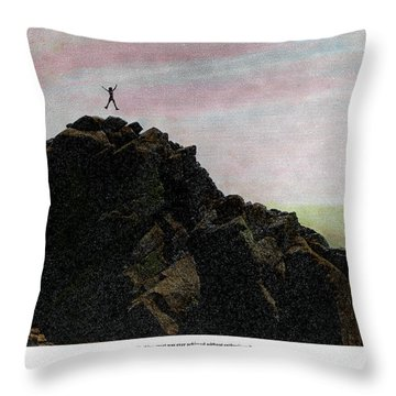Throw Pillow featuring the photograph Enthusiasm Poster by Wayne King