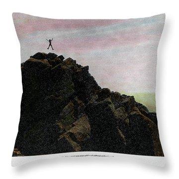 Enthusiasm Poster Throw Pillow