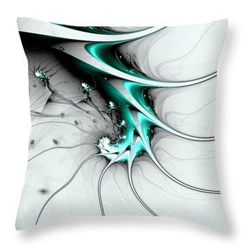 Throw Pillow featuring the digital art Entity by Anastasiya Malakhova