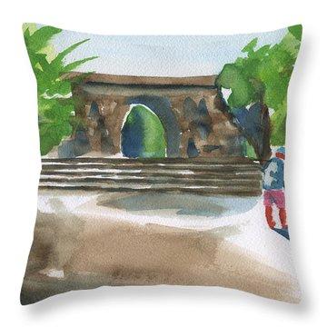 Entrance At Chankanaab Throw Pillow by Frank Bright