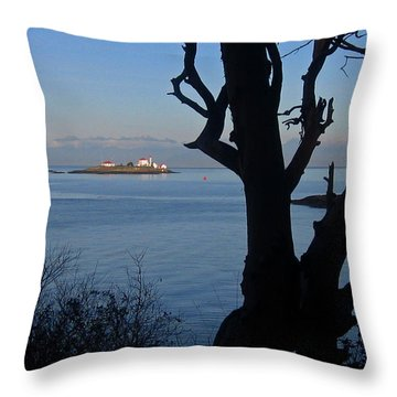 Entrance Island, Bc Throw Pillow by Anne Havard
