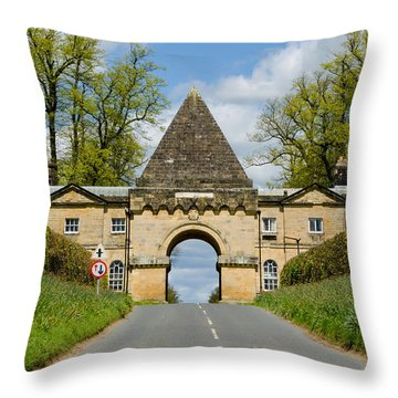 Entrance To Burghley House Throw Pillow