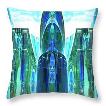 Entrance To Emerald City Throw Pillow