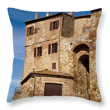 Entrance To The City Throw Pillow by Rae Tucker