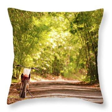 Jamaican Estate Throw Pillow