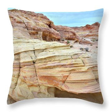 Throw Pillow featuring the photograph Entrance To Wash 3 In Valley Of Fire by Ray Mathis