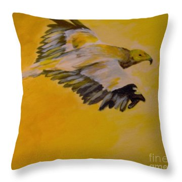 Throw Pillow featuring the painting Entrepreneur by Saundra Johnson