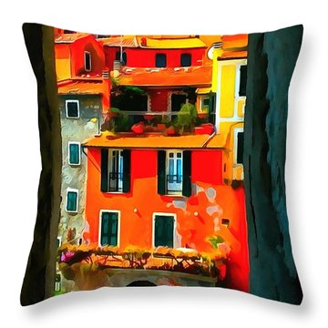 Entry Way Painting Throw Pillow