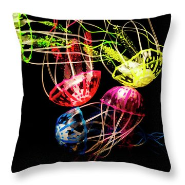 Entwined In Interconnectivity Throw Pillow
