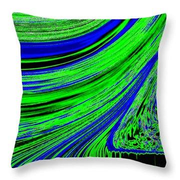 Environmental Ebb Throw Pillow by Will Borden