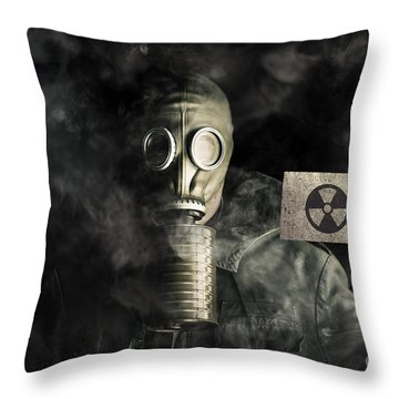 Nuclear Threat Throw Pillow