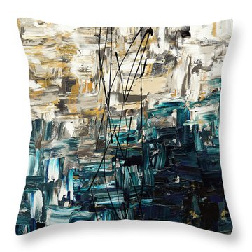 Throw Pillow featuring the painting Envisioning by Carmen Guedez