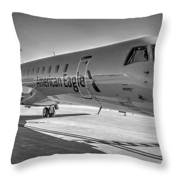 Envoy Embraer Regional Jet Throw Pillow