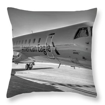 Envoy Embraer Regional Jet Throw Pillow