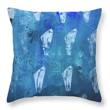 Throw Pillow featuring the painting Eolith II by Robin Maria Pedrero