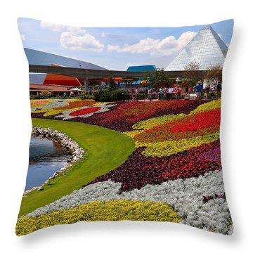 Epcot Gardens Throw Pillow