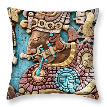 Epcot Mayan Warrior Throw Pillow