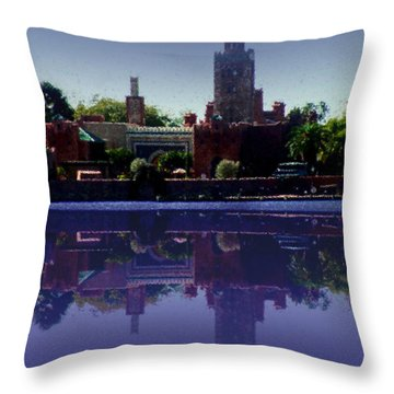 Epcot Reflections Throw Pillow by Shirley Heyn