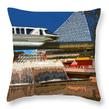 Epcot Scenic Throw Pillow by David Lee Thompson