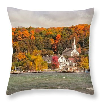 Throw Pillow featuring the photograph Ephraim Wisconsin In Door County by Heidi Hermes