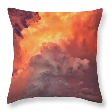 Epic Storm Clouds Throw Pillow