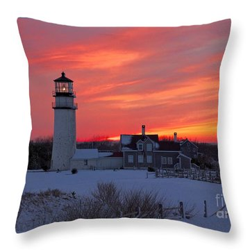 Epic Sunset At Highland Light Throw Pillow