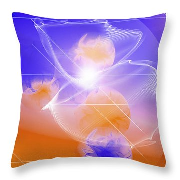 Epiphany Throw Pillow by Ute Posegga-Rudel