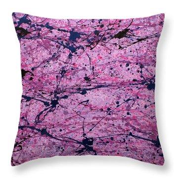 Epithelium Throw Pillow by Ericka Herazo