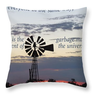 Equal In God's Eye Throw Pillow