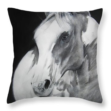 Equestrian Beauty Throw Pillow by Carrie Jackson