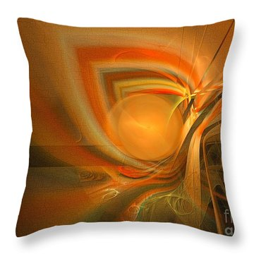 Throw Pillow featuring the digital art Equilibrium - Abstract Art by Sipo Liimatainen