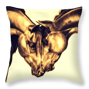 Equine Attraction Throw Pillow
