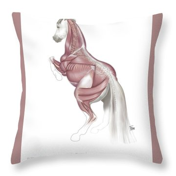 Equine Levade Throw Pillow