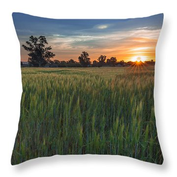 Equinox-first Sunrise Of Spring Throw Pillow