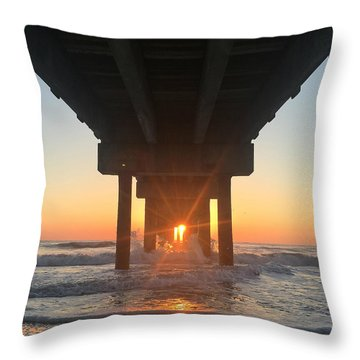 Throw Pillow featuring the photograph Equinox Line Up by LeeAnn Kendall