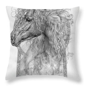 Equus Caballus - Horse - The Divine Gift Throw Pillow