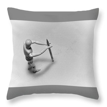 Erasing His Tracks Throw Pillow