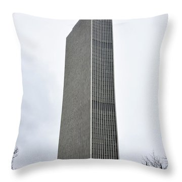 Throw Pillow featuring the photograph Erastus Corning Tower In Albany New York by Brendan Reals