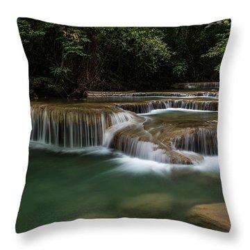 Erawan Falls Throw Pillow