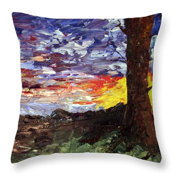 Erda Sunset Throw Pillow by Jane Autry