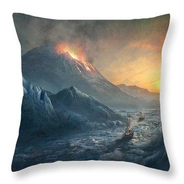Erebus Mount Throw Pillow